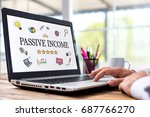 passive income concept with... | Shutterstock . vector #687766270