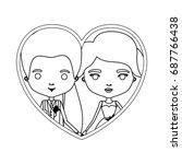 monochrome silhouette heart... | Shutterstock .eps vector #687766438