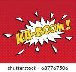 Speech Bubble Ka Boom. Vector...