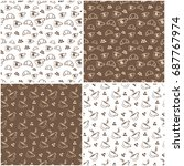 seamless pattern of coffee. a... | Shutterstock .eps vector #687767974