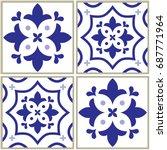 tiles pattern  spanish or... | Shutterstock .eps vector #687771964