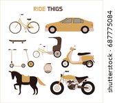 ride objects vector... | Shutterstock .eps vector #687775084