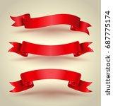 red ribbon banner set hight... | Shutterstock .eps vector #687775174