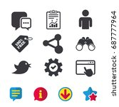 social media icons. chat speech ...
