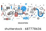 modern flat thin line design... | Shutterstock .eps vector #687778636