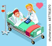 safety medical infographic... | Shutterstock .eps vector #687781870