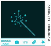 magic wand icon flat. simple... | Shutterstock . vector #687785890