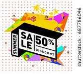 summer sale memphis style web... | Shutterstock .eps vector #687786046