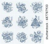 vector backgrounds with... | Shutterstock .eps vector #687787933