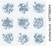 abstract isometrics backgrounds ... | Shutterstock .eps vector #687788044