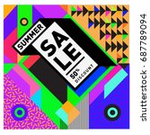 summer sale memphis style web... | Shutterstock .eps vector #687789094