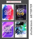nice and beautiful set of 4... | Shutterstock .eps vector #687789709