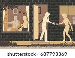 editable vector illustration of ... | Shutterstock .eps vector #687793369