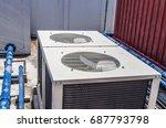 air conditioning compressor...   Shutterstock . vector #687793798