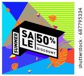 summer sale memphis style web... | Shutterstock .eps vector #687795334