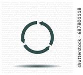 circular arrows vector icon | Shutterstock .eps vector #687801118