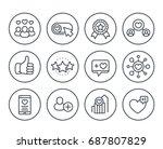 likes  followers  hearts ... | Shutterstock .eps vector #687807829