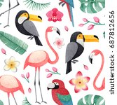 watercolor illustrations of... | Shutterstock . vector #687812656