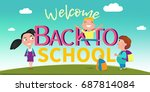 back to school vector banner ... | Shutterstock .eps vector #687814084
