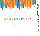 grandparents day  greeting card ... | Shutterstock .eps vector #687818083