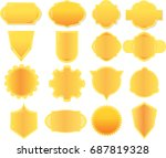 collection banner for text and... | Shutterstock .eps vector #687819328