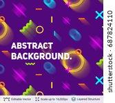 vector multicolored geometric... | Shutterstock .eps vector #687824110