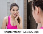 beauty  skin care and sport... | Shutterstock . vector #687827608