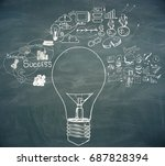 abstract drawn lamp and... | Shutterstock . vector #687828394