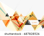 triangular low poly a4 size... | Shutterstock . vector #687828526
