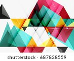 triangular low poly a4 size... | Shutterstock . vector #687828559
