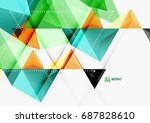 triangular low poly vector a4... | Shutterstock .eps vector #687828610