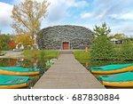 cap  hnizdo    the stork s nest ... | Shutterstock . vector #687830884