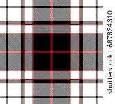 tartan plaid seamless pattern | Shutterstock .eps vector #687834310