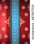 thai style art of pattern on... | Shutterstock . vector #687837019
