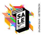 summer sale memphis style web... | Shutterstock .eps vector #687838654