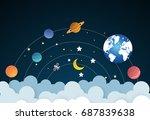 vector illustration of  earth... | Shutterstock .eps vector #687839638