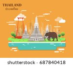 important places and landmarks  ... | Shutterstock .eps vector #687840418