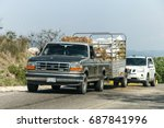 Small photo of GUERRERO, MEXICO - MAY 27, 2017: Pickup truck Ford F-250 at the interurban road.