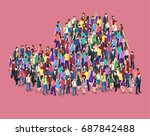isometric flat 3d isolated... | Shutterstock .eps vector #687842488