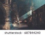 geghard  armenia   8 november... | Shutterstock . vector #687844240