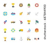 shipping icons | Shutterstock .eps vector #687844900