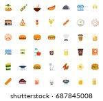 restaurant icons | Shutterstock .eps vector #687845008