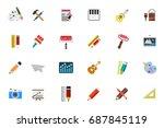 art icons set | Shutterstock .eps vector #687845119