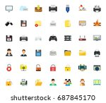 computer icons | Shutterstock .eps vector #687845170