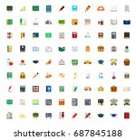 education icons | Shutterstock .eps vector #687845188