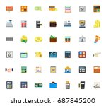 financial icons | Shutterstock .eps vector #687845200