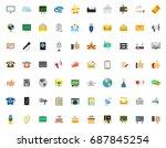 communication icons   Shutterstock .eps vector #687845254