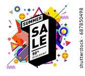 summer sale memphis style web... | Shutterstock .eps vector #687850498