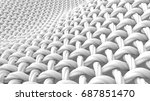 close up look at interlaced... | Shutterstock . vector #687851470