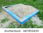 sandbox in the open air on the... | Shutterstock . vector #687853654